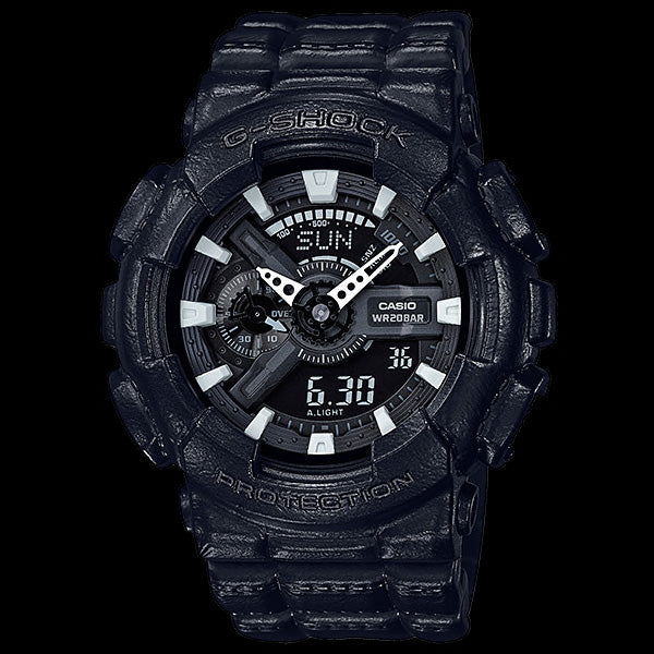 CASIO G-SHOCK BLACKOUT BASIC TEXTURE WATCH GA110BT-1A