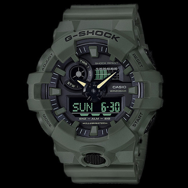 CASIO G-SHOCK UTILITY MILITARY GREEN WATCH GA700UC-3A