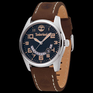 TIMBERLAND LEMINGTON BLUE DIAL BROWN LEATHER WATCH