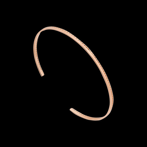 ANIA HAIE TEXTURE MIX ROSE GOLD TWIST CUFF BRACELET