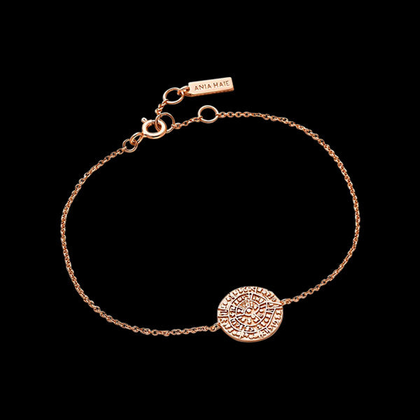 ANIA HAIE COINS ROSE GOLD ANCIENT MINOAN BRACELET