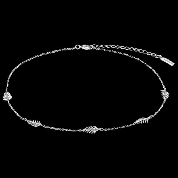 ANIA HAIE TROPIC THUNDER SILVER PALM CHOKER 30-35CM NECKLACE