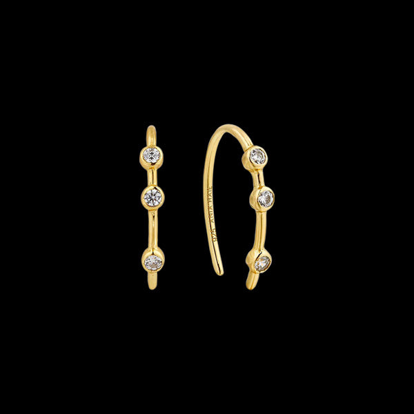 ANIA HAIE TOUCH OF SPARKLE GOLD SHIMMER STUD HOOK EARRINGS
