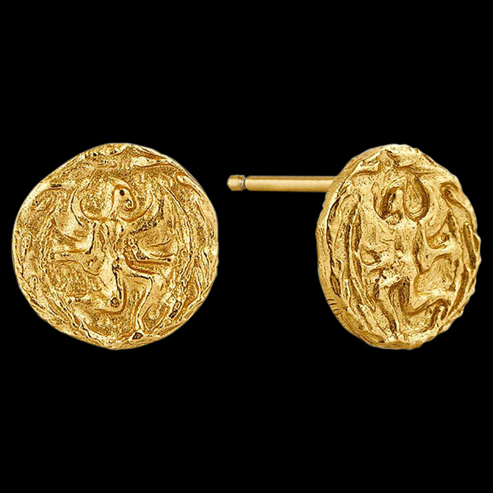 ANIA HAIE COINS GOLD BOREAS STUD EARRINGS