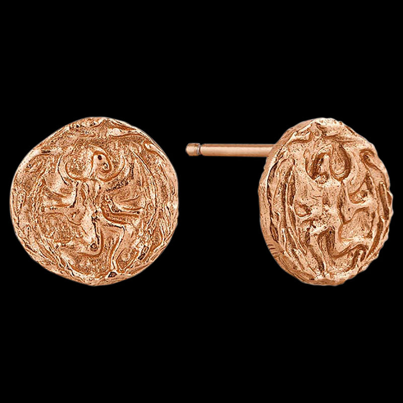 ANIA HAIE COINS ROSE GOLD BOREAS STUD EARRINGS