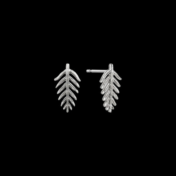 ANIA HAIE TROPIC THUNDER SILVER PALM STUD EARRINGS