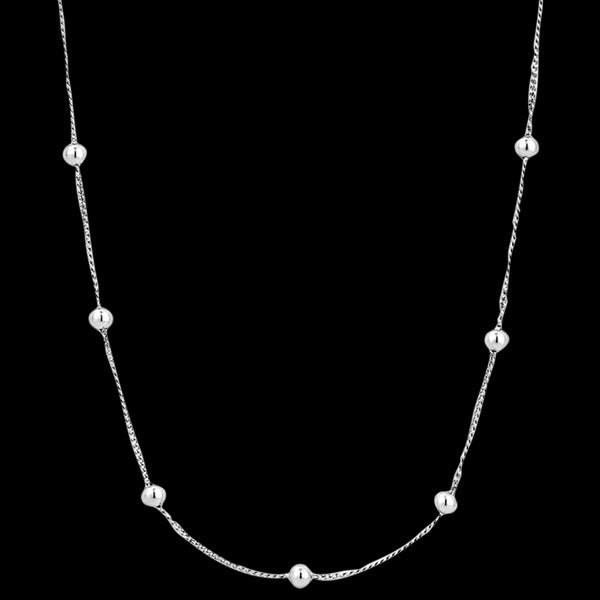 ANIA HAIE MINIMALISM SILVER MODERN BEADED 35-40CM NECKLACE