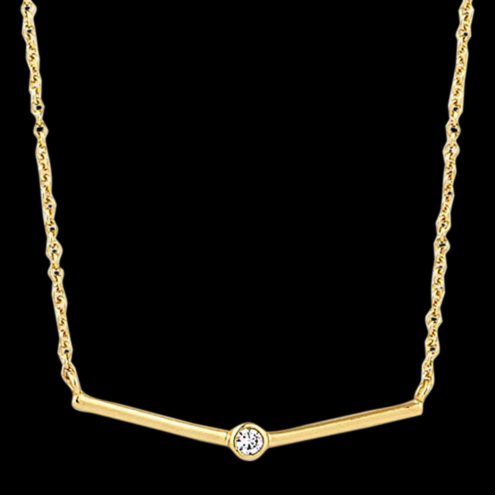 ANIA HAIE TOUCH OF SPARKLE GOLD SHIMMER SINGLE STUD 40-45cm NECKLACE