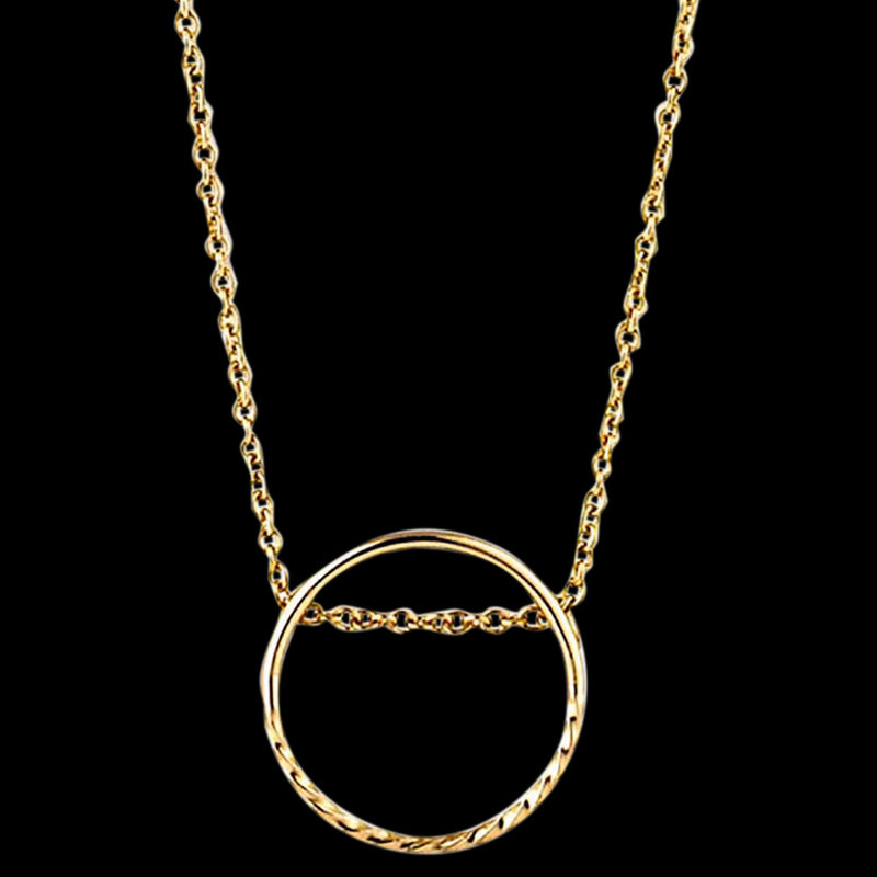 ANIA HAIE TEXTURE MIX GOLD TWIST CHAIN CIRCLE 40-45CM NECKLACE