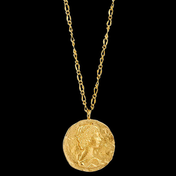 ANIA HAIE COINS GOLD ROMAN EMPRESS 79-84CM NECKLACE