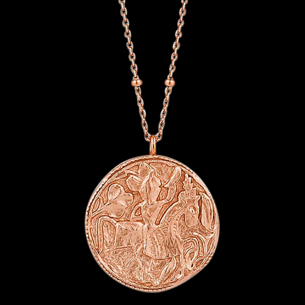 ANIA HAIE COINS ROSE GOLD GREEK WARRIOR 80-85CM NECKLACE