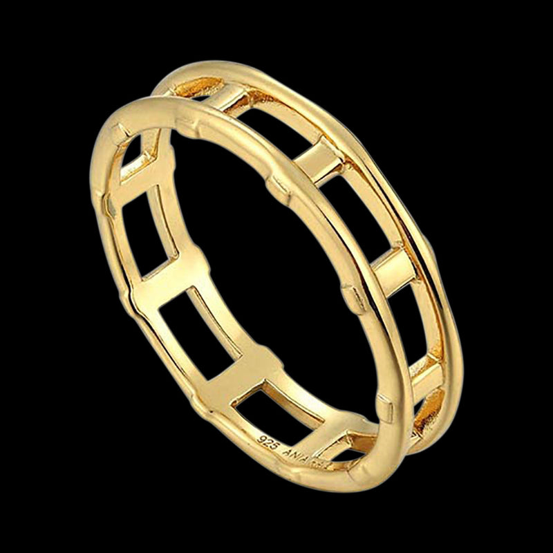 ANIA HAIE MINIMALISM GOLD MODERN BAR RING