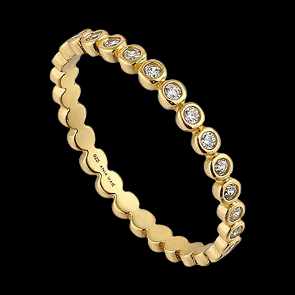 ANIA HAIE TOUCH OF SPARKLE GOLD SHIMMER HALF ETERNITY RING