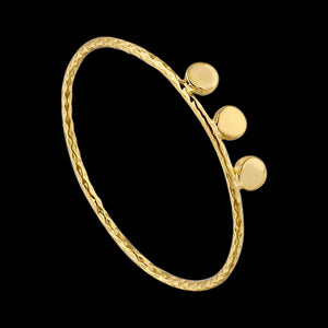 ANIA HAIE TEXTURE MIX GOLD TRIPLE DISC RING