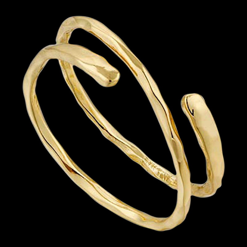 ANIA HAIE TEXTURE MIX GOLD RIPPLE ADJUSTABLE RING