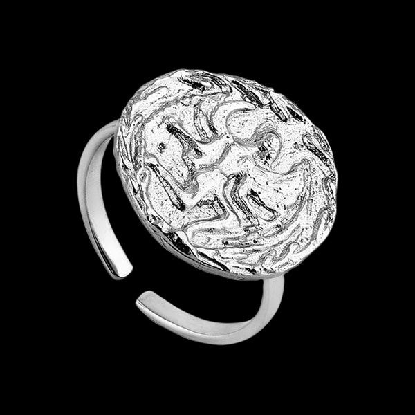 ANIA HAIE COINS SILVER BOREAS ADJUSTABLE RING