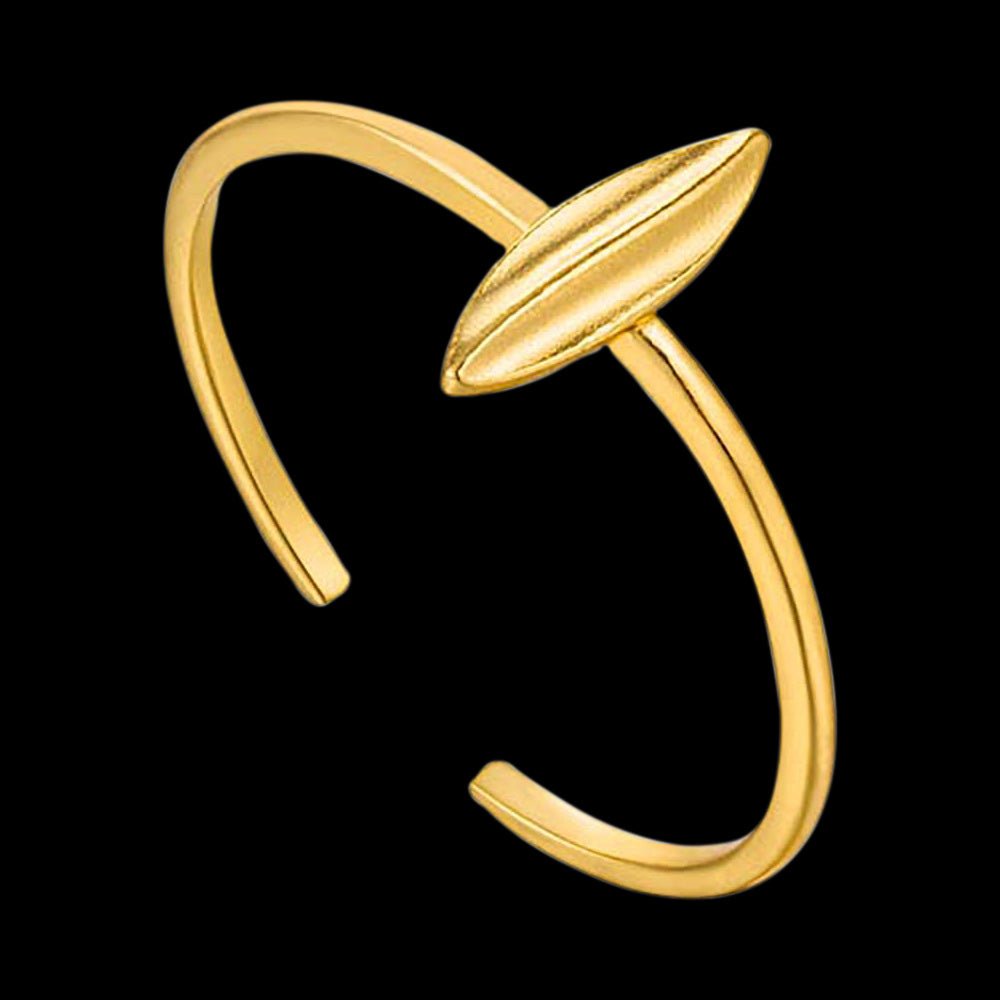 ANIA HAIE TROPIC THUNDER GOLD LEAF ADJUSTABLE RING