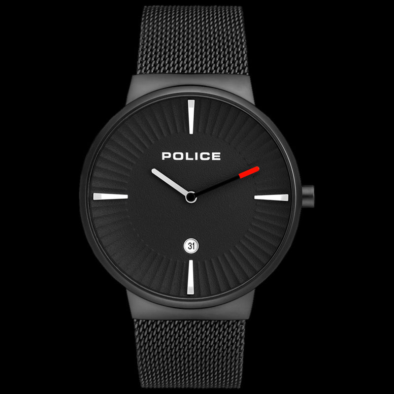 POLICE CASCADE ALL BLACK MESH WATCH