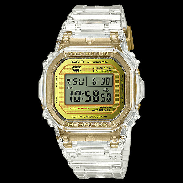 CASIO G-SHOCK GLACIER GOLD SQUARE 35TH ANNIVERSARY WATCH DW5035E-7D