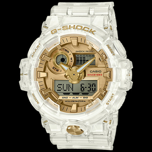 CASIO G-SHOCK GLACIER GOLD SUPER ILLUMINATOR 35TH ANNIVERSARY WATCH GA735E-7A