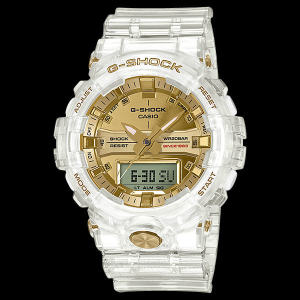 CASIO G-SHOCK GLACIER GOLD MID-SIZE 35TH ANNIVERSARY WATCH GA835E-7A