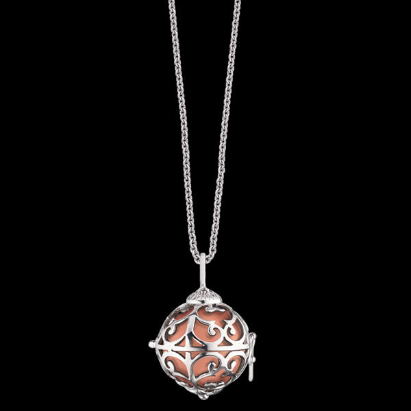 ENGELSRUFER SILVER ROSE GOLD SOUNDBALL EXTRA SMALL NECKLACE