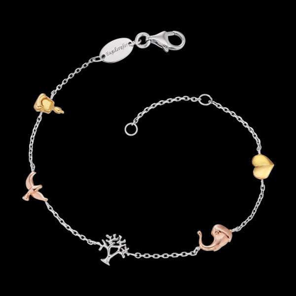 ENGELSRUFER TRICOLOUR TREE OF LIFE SYMBOLS BRACELET