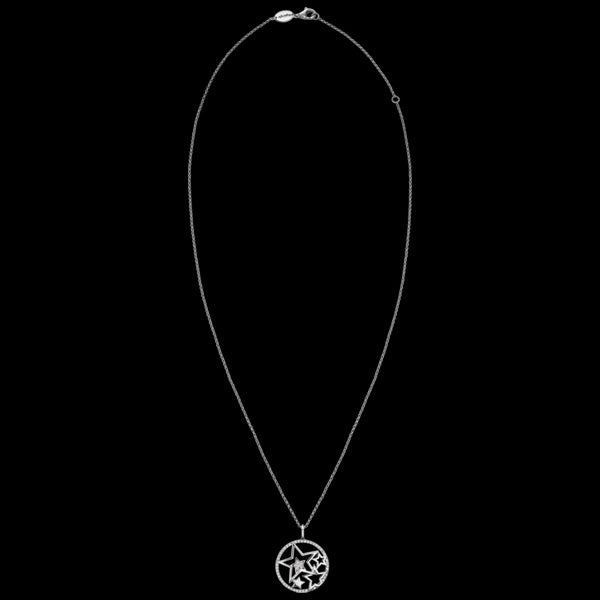 ENGELSRUFER SILVER CZ CIRCLE OF STARS NECKLACE