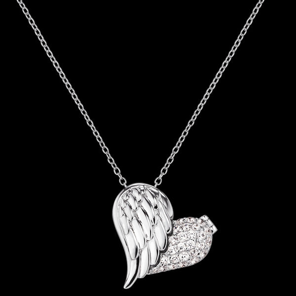 ENGELSRUFER SILVER WITH LOVE OPENING HEART NECKLACE