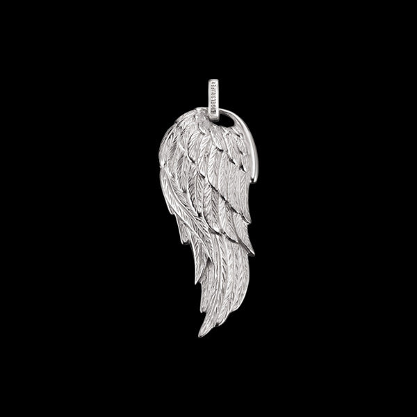 ENGELSRUFER SILVER FLAME WING SMALL PENDANT