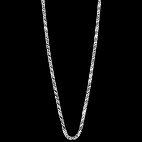 BERING ARCTIC SYMPHONY SILVER STAINLESS STEEL 45CM BEAD STARTER NECKLACE