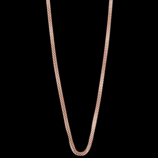 BERING ARCTIC SYMPHONY ROSE GOLD STAINLESS STEEL 45CM BEAD STARTER NECKLACE