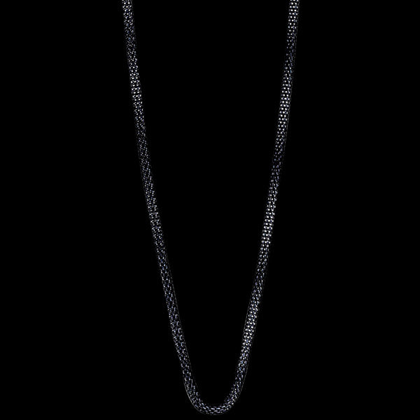 BERING ARCTIC SYMPHONY BLACK STAINLESS STEEL 45CM BEAD STARTER NECKLACE