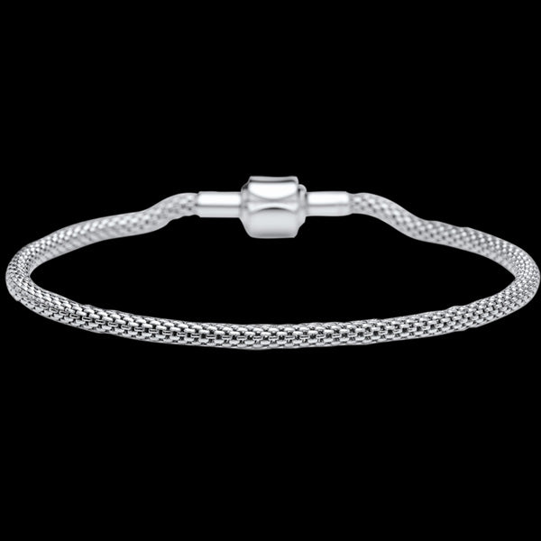 BERING ARCTIC SYMPHONY SILVER STAINLESS STEEL BEAD STARTER BRACELET