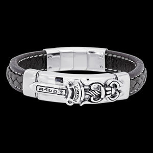 SAVE BRAVE MEN'S VINCENT LEATHER BRACELET