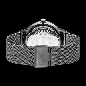 POLICE MEN'S NORMAN GUNMETAL GREY MESH WATCH - BACK VIEW