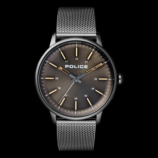 POLICE MEN'S NORMAN GUNMETAL GREY MESH WATCH