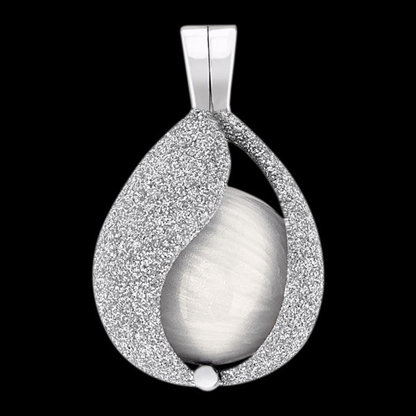 ENGELSRUFER SILVER STARDUST TEAR OF HEAVEN SOUNDBALL PENDANT