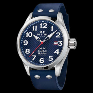 TW STEEL TW988 RED BULL HOLDEN RACING TEAM 48MM 3-HANDS BLUE DIAL SPECIAL EDITION WATCH