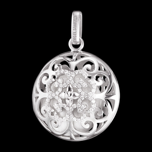 ENGELSRUFER SILVER AIR CZ LUNA SOUNDBALL PENDANT