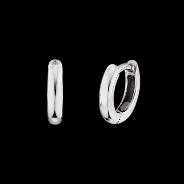 HERZENGEL CHILDREN'S SILVER 10MM HOOP CREOLE EARRINGS