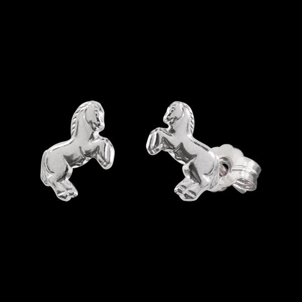 HERZENGEL CHILDREN'S SILVER HORSE STUD EARRINGS