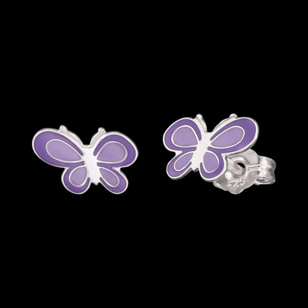 HERZENGEL CHILDREN'S SILVER NATURE BUTTERFLY STUD EARRINGS
