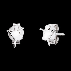 HERZENGEL CHILDREN'S SILVER BALLERINA STUD EARRINGS