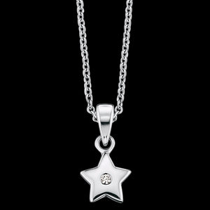 HERZENGEL CHILDREN'S SILVER STAR CZ NECKLACE