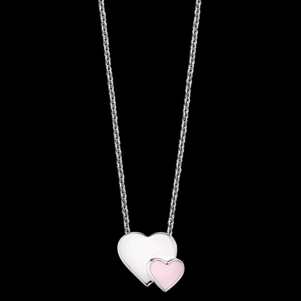 HERZENGEL CHILDREN'S SILVER TWO HEARTS NECKLACE