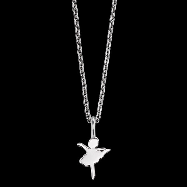 HERZENGEL CHILDREN'S SILVER BALLERINA NECKLACE