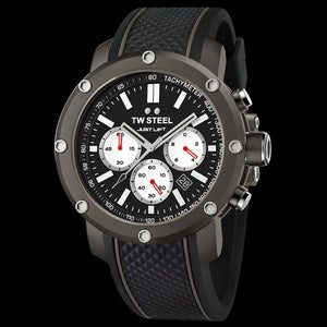 TW STEEL TS12 SIMEON PANDA TITANIUM PVD CASE BLACK DIAL 48MM GRANDEUR TECH LIMITED EDITION WATCH