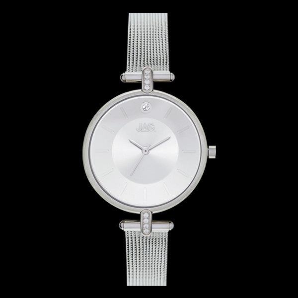 JAG LADIES LEXI SILVER SUNKEN DIAL WATCH