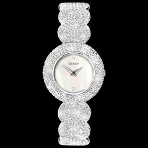 SEKSY LADIES ELEGANCE CIRCLES CRYSTAL BRACELET WATCH